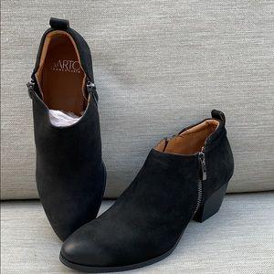 Franco Sarto Granite Black Bootie Brand New